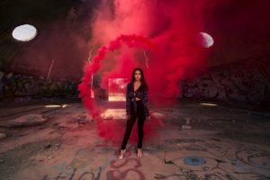 Red smoke photography