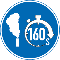 Smoke duration 160s sign