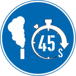 45 second smoke duration sign