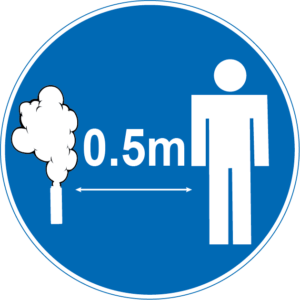 0.5m safety distance