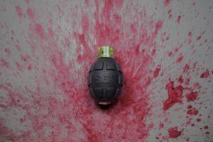 Enola Gaye Wire Pull Paint Grenade